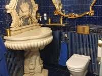 Romantická koupelna - chalupa k pronájmu Rohanov