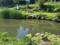 Rybníček na návsi osady s posezením - Rohanov