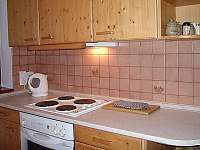 Kuchyně - pronájem chaty Bílá Třemešná