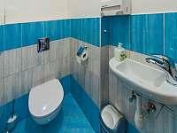 WC - přízemí - chata k pronajmutí Jeníkovice