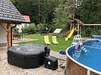 venkovní vířivka - chata ubytování Seč - Kraskov