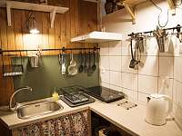 kuchyň - pronájem chaty Strakov