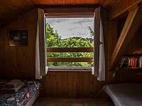 výhled z okna - chata ubytování Strakov