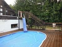 bazén - chalupa k pronajmutí Králíky - Horní Lipka