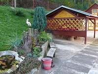 dvorek pergola - pronájem chaty Brod - Heřmanice nad Labem