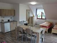 Bytové studio č.1 pro 6 osob - ubytování Helvíkovice