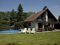 Bazén - chata ubytování Doubravice