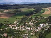 Letecký pohled - chata k pronájmu Dlouhá Třebová