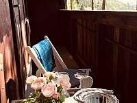 balkon - pronájem chaty Křížanovice