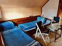Modrý pokoj nahoře - celkem 3x/ lůžko + 1x/ malé. Východ na balkon. - Křížanovice