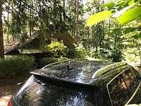 parkování u chaty - Křížanovice