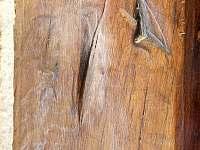 Původní dřevěná zárubeň
