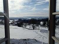 Pohled z okna - chalupa ubytování Odolov