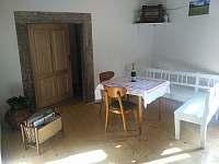 Jídelní kout - apartmán k pronajmutí Machov - Nízká Srbská