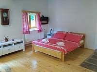 Spací část s manželskou postelí - apartmán k pronajmutí Machov - Nízká Srbská