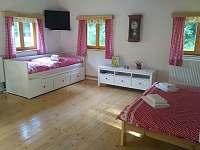 Spací část s rozložitelnou postelí - apartmán ubytování Machov - Nízká Srbská