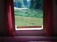 Výhled z okna - apartmán k pronajmutí Machov - Nízká Srbská