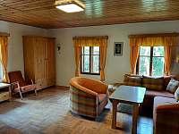 Obývací pokoj - chalupa ubytování Rybná nad Zdobnicí