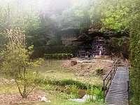 Venkovní zázemí - chata ubytování Nové Hrady