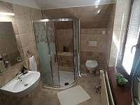 Koupelna s WC - pronájem apartmánu Bílé Poličany