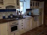kuchyňská část - chalupa ubytování Paseky u Proseče
