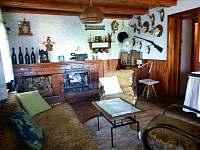 obývací pokoj - chata k pronajmutí Opočno