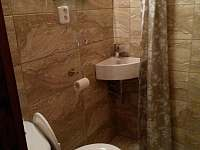 toaleta se sprch. koutem - chata k pronajmutí Opočno