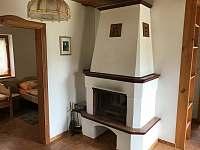 krb obývací místnost - chata k pronájmu Svojanov