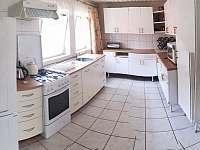 Kuchyň - chata ubytování Skořenice - Vrchovina