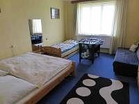 ložnice pro pět sosb - rekreační dům k pronajmutí Hajnice