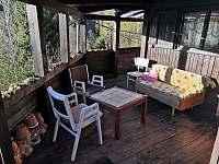krytý balkón - chata k pronájmu Rybník