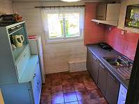 kuchyň - chata ubytování Rybník