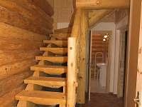 Chodba se srubovým schodištěm