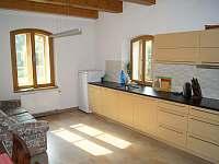 Kuchyně - chalupa ubytování Lozice