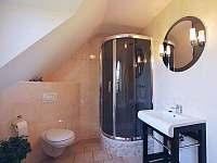 koupelna s vanou a sprchou - pronájem chalupy Božanov