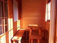 Uzavřená veranda - chata ubytování Proseč