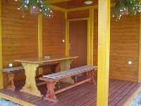 Terasa chata č. 18 pro 6 osob - pronájem Svojanov