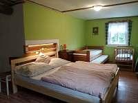 ložnice - pronájem chalupy Dědov