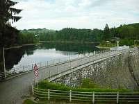 pohled na Pastvinskou přehradu