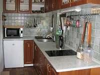Kuchyň - chata k pronájmu Opatov Zádolka