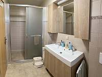 Koupelna - chata ubytování Janovičky