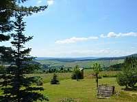 Pohled z terasy na Krkonoše - chata ubytování Janovičky