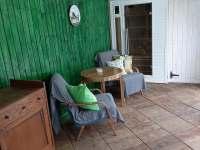Terasa u bazenu se saunou - Borovnička