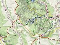 Blízké turistické trasy Adršpašsko-teplickými skalami - Jívka u Adršpachu