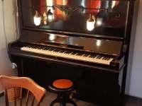 Piano ve společenské místnosti - pronájem chalupy Jívka u Adršpachu