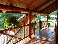 Velká krytá terasa - ubytování Horní Radechová