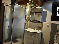 koupelna v přízemí - pronájem chalupy Velké Petrovice