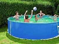 Venkovní bazén - chalupa k pronájmu Nahořany - Lhota