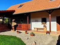 Venkovní terasa - chalupa ubytování Nahořany - Lhota