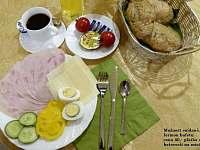 Snídaně - domluva na místě. - ubytování Karle